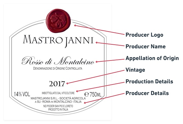 Italian Wine Label