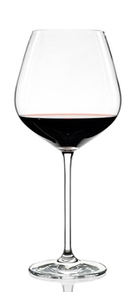Bordeaux Wine Glass filled with Red Wine