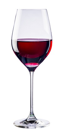 Cabernet Wine Glass filled with Red Wine