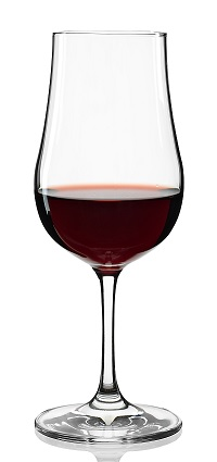 Port Wine Glass filled with Red Wine