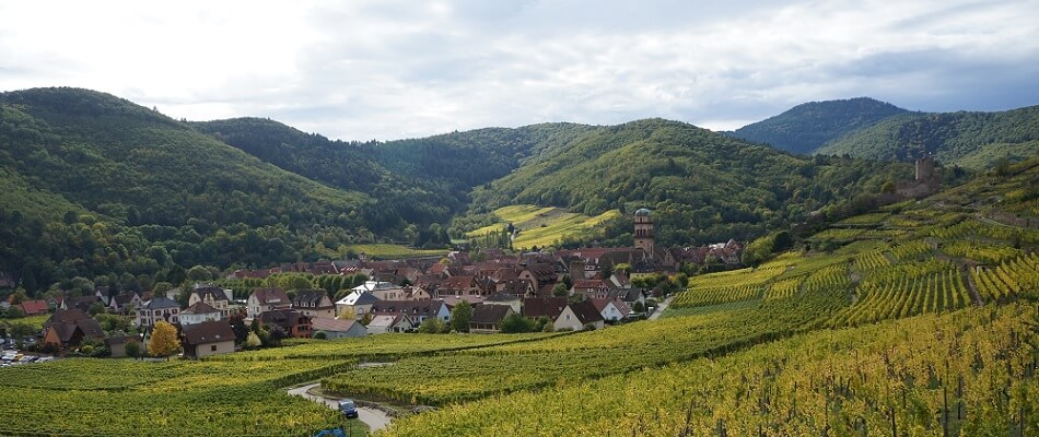 Kaysersberg in the Alsace Region, France