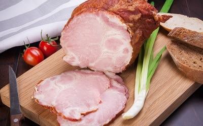 Ham Roast on a Wooden Board