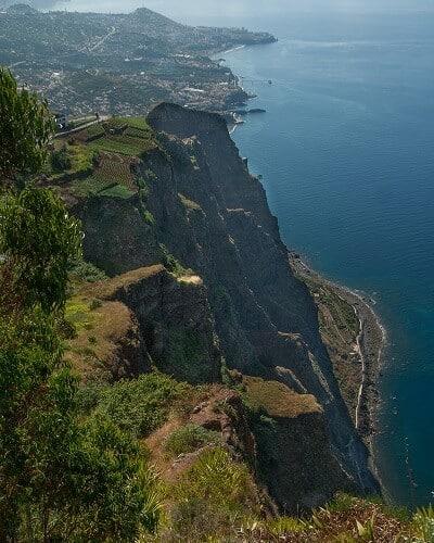 Cliffs on the Coast of Madeira Island