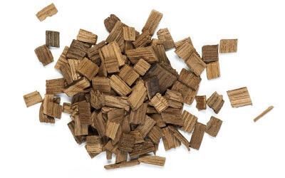 Stack of Oak Wood Chips for Oaked Wine Production