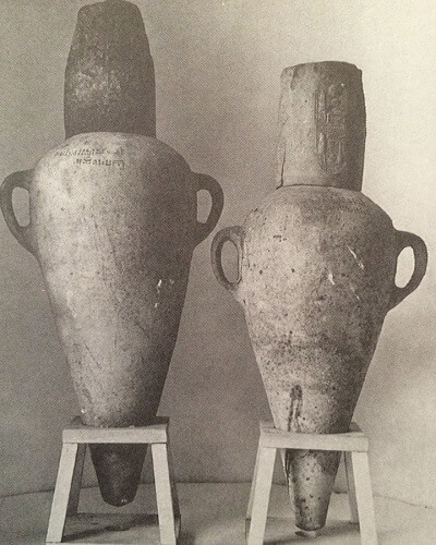 Ancient Wine Amphoras with Engraved Labels