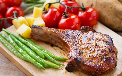 Pork Chop with Different Vegetables
