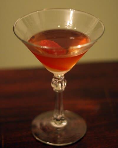 Opera Cocktail in a Martini Glass