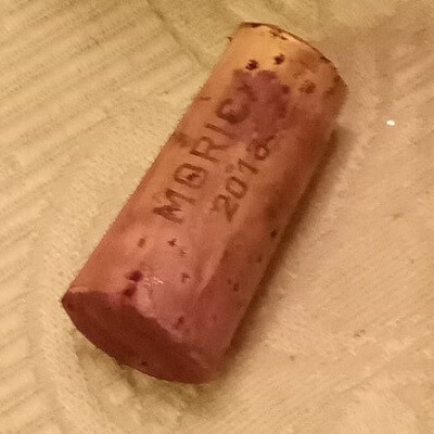 Soaked Cork after Removing from Wine Bottle