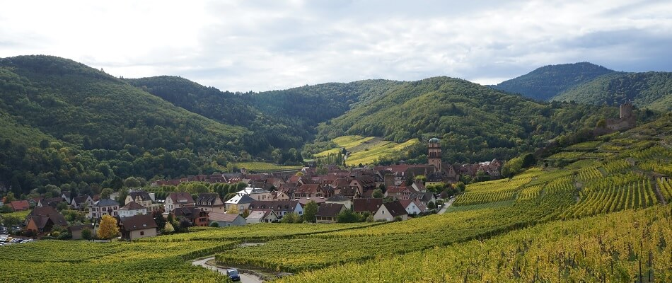 The Town Keyserberg in the Alsace Region